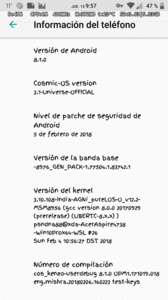 Review Custom Cosmic OS AOSP Android Oreo 8.1 Redmi Note 3 Pro